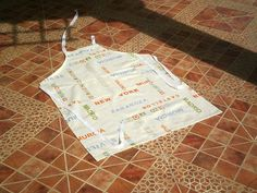 Items similar to SOLD.Plain and Practical Spanish Cities Chefs full length apron with pocket & buckle neckband. on Etsy Chef Apron, Apron Designs, Apron Pockets, Aprons, Chefs, Cities, Spanish, Trending Outfits, Etsy