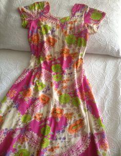 Vintage 1960s Bright Floral Dress by BarbeeVintage on Etsy, $27.00