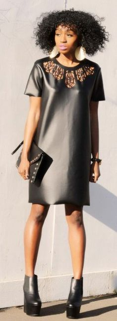 Cut-out faux leather / Cheap  cheerful Shopholic