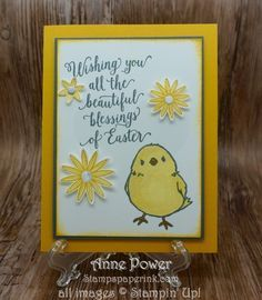 Stamps, Paper, Ink Create!: Honeycomb Happiness Chickie Easter Card