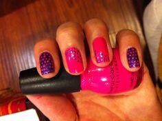 Dotting tool...#sinfulcolors cream pink and #sallyhansen deep purple
