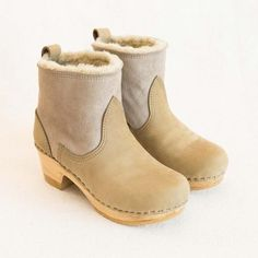 No.6 Pull on Shearling Boot in String- General Store