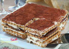 Mattonella di biscotti crema al mascarpone e nutella