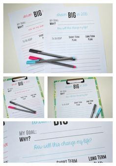 FREE New Years Resolutions Printable Dream BIG in 2015 Free printable for setting your goals or new years resolutions for 2015!