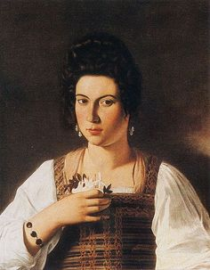 Michelangelo Merisi da Caravaggio, – Portrait of a Woman (possibly the courtesan, Fillide Melandroni) Oil on canvas, c. 1597 66 cm × 53 cm in × 21 in) Destroyed Baroque Painting, Baroque Art, Johannes Vermeer, Italian Painters, Italian Artist, Rembrandt, Michelangelo Caravaggio, Bode Museum, List Of Paintings