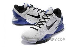 the best attitude 4caf9 ae949 Nike Zoom Kobe Vii Mens White Blue. Michael Jordan ...