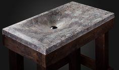 "Design concrete sink ""Volcanic cream"" handmade in the single copy. Free delivery to the US and EU door PietraDanzare op Etsy https://www.etsy.com/nl/listing/178584761/design-concrete-sink-volcanic-cream"