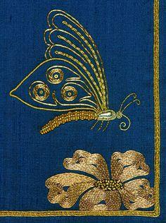 Goldwork butterfly