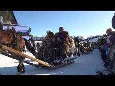 horse drawn sleds, up to 10 day trip for some to reach the market in roros..... 2012 lasskjørerene på røros