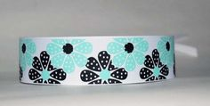 Acqua White and Black Adjustable Wide Ribbon by superchicboutique, $5.00