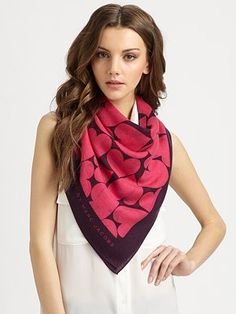 Marc by Marc Jacobs Big Heart Print Scarf