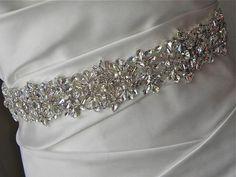 Geometric Rhinestone Bridal Sash with by GlitterAndGlitzBride, $125.00