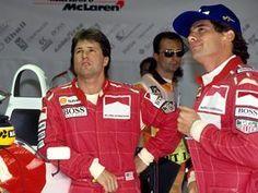 Ayrton with Michael Andretti