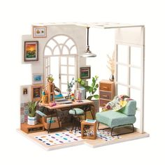 3D wooden jigsaw puzzle handmade miniature furniture doll house building model home decoration toy SOHO time