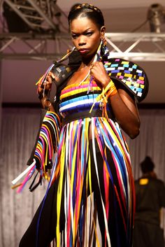 Bull Doff  Designs by Baay Sooley and Laure Tarot winners of the  See Africa Differently competition organised in collaboration with Africa Fashion Week London.