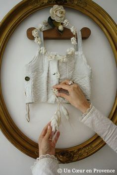 interesting way to frame a keepsake....an idea to keep in mind for a wall in my office!