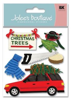 Search: 3d stickers > Holidays > Christmas > Tree Cutting 3D Stickers - Jolee's Boutique: Stickers Galore  $4.39