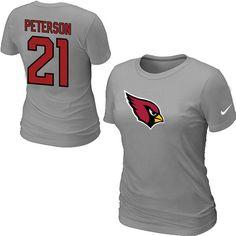 4b5db412b Nike Arizona Cardinals  21 Patrick Peterson Name  amp  Number Women s NFL T -Shirt