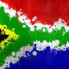 Discover south africa's poker scene with ashlee de lange Flag Drawing, South African Flag, Flag Painting, Rock Painting, Splatter Art, Flag Art, Behance, Creative Art, Illustration