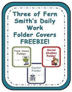 Fern Smith's FREE Three Daily Work Folder Covers