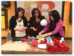Rachel Ray teaches how to decorate  Some great ideas here that you might like to use at your wedding
