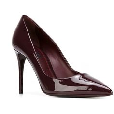 Dolce & Gabbana 'Kate' pumps ($445) ❤ liked on Polyvore featuring shoes, pumps, patent pointed toe pumps, heels stilettos, patent pointy toe pump, stilettos shoes and pointy-toe pumps