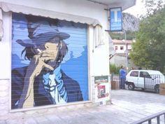 「ルパン三世」次元大介がイタリアで人気?タバコ屋のシャッターに描かれたストリートアートが話題に