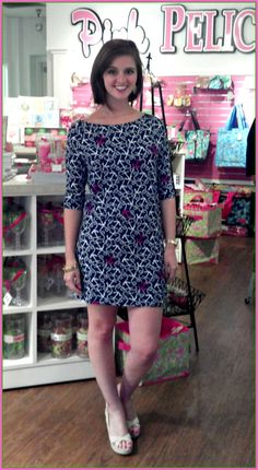 The Lilly Pulitzer Cassie Dress in Ahoy There is now in-store! ($98.00)... Love this print