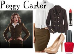 """""""Peggy Carter"""" by companionclothes on Polyvore"""