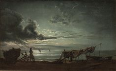 The Gulf of Naples. Moonlight (1820-1821) by Johan Christian Dahl
