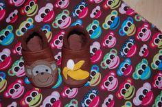 Ecopell   Lederpuschen  Affe von Doris -Designs auf DaWanda.com