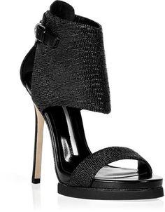 Camilla Skovgaard Black Harness Stiletto Sandals