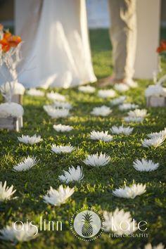 Modern Orange and White Styled Wedding Shoot     Aislinn Kate Photography     Fiesta Wedding     Destin     Petal aisle