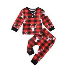 Let your little one feel the season of Christmas in this Zepher Reindeer Outfit. Made with the finest polyester and cotton material that is soft for the skin. Boys Christmas Outfits, Christmas Pajamas, Kids Christmas, Merry Christmas, Xmas, Baby Boys, Kids Girls, Plaid Fashion, Kids Fashion