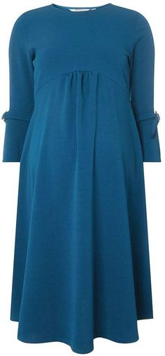 **Maternity Teal Empire Fit and Flare Dress. #ad