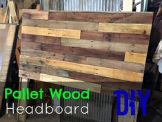 Pallet Headboard DIY. How to make a simple pallet wood headboard. -- from RevivalWoods.com