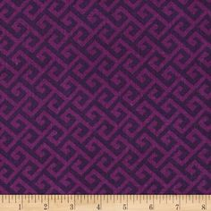 Greek Key Tonal Purple from @fabricdotcom  From Sprints Creative Products, Group, LLC, this cotton print fabric is perfect for quilting, apparel and home decor accents. Colors include shades of purple.