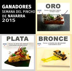 Los tres pinchos ganadores. #semanadelpincho 2015