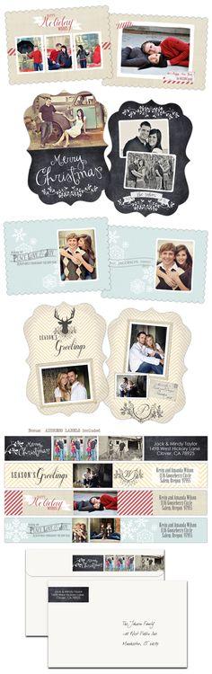 Christmas card templates www.cravemydesign.com