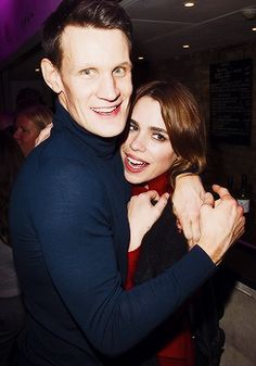 Matt Smith and Billie Piper at the American Psycho afterparty