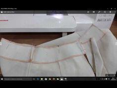 Saia Com Babado Godê e Recorte Assimétrico - Costura - YouTube