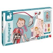 A large magnetic board with the outline of the human body. Comes with 18 multi-lingual informational cards. Identify each part of the body with 76 magnetic piec Body Anatomy, Human Anatomy, Magnetic Toys, Learn Portuguese, Portuguese Lessons, Traditional Toys, Science Toys, Learning Italian, Learning Toys
