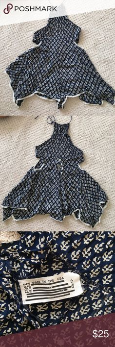 Free people halter romper Patterned romper/ buttons up the back Free People Pants Jumpsuits & Rompers