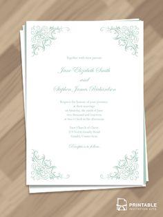 220 best wedding invitation templates free to print images on printable pdf templates simple classy border wedding invitation stopboris Images