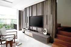 Make sure your extra-large flatscreen TV isn't an eyesore, plus TV console design ideas.