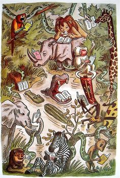 Jungle Library by Franco Matticchio