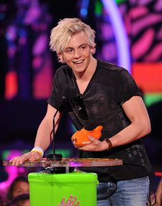 Ross Lynch accepting the award for Favorite TV Actor during Nickelodeon's 27th Annual Kids' Choice Awards held at USC Galen Center on March 29, 2014 in Los Angeles, California