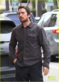 Christian Bale's Wedding Anniversary is Coming Up Soon!: Photo Christian Bale and his wife Sibi look like they're very much in love while going for a stroll around town on Wednesday (January in Beverly Hills, Calif. Chris Bale, 17th Wedding Anniversary, Batman Christian Bale, Taylor Kinney, Men Photoshoot, Famous Men, British Actors, Fine Men, Beard Styles