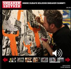 Sneaker Freaker placed a photo of me painting @Puma
