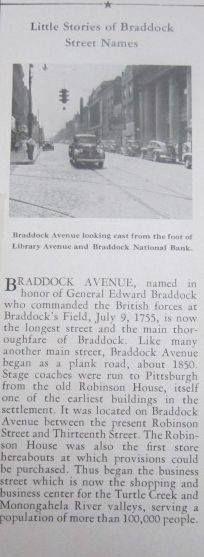 #robinson street, braddock pa